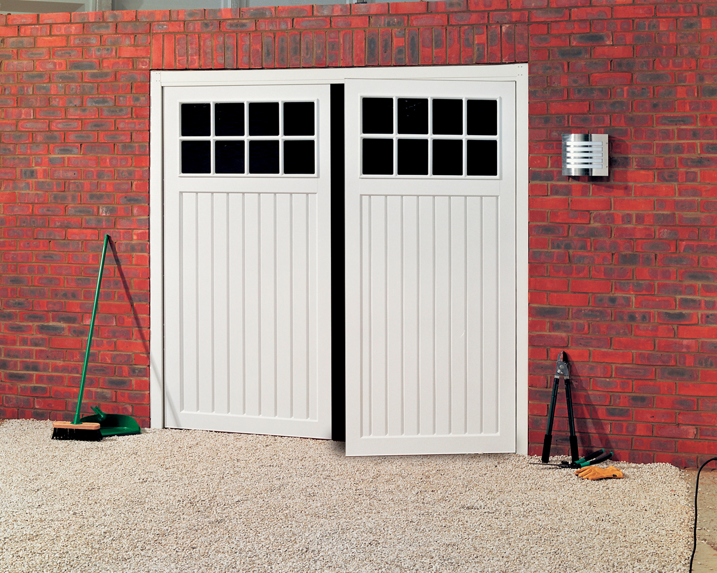 Side hinged garage doors best garage door for Best wood for garage doors
