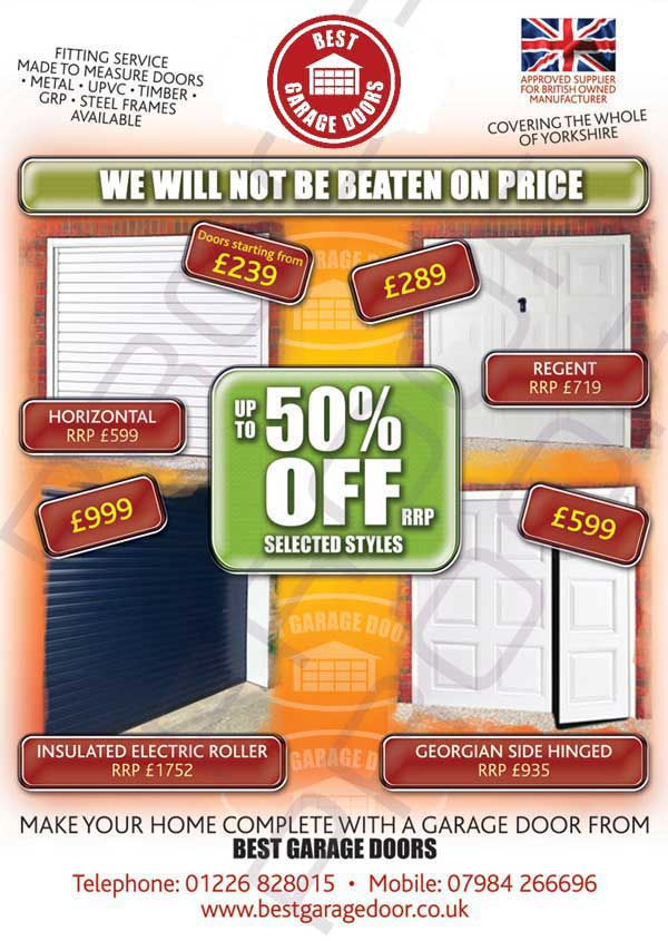 Special Offers on garage doors from Best Garage Doors Barnsley, South Yorkshire