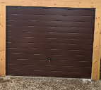 Before and after images of garage doors from Best Garage Doors Barnsley, South Yorkshire