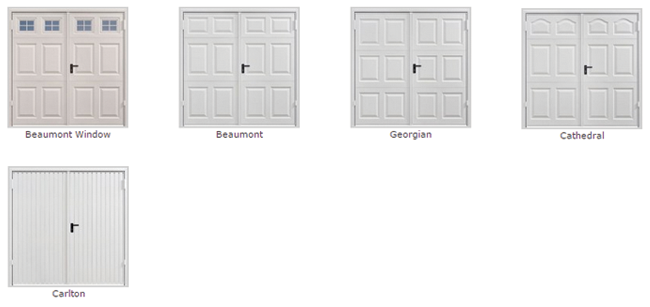 Side hinged garage doors from Best Garage Doors Barnsley, South Yorkshire