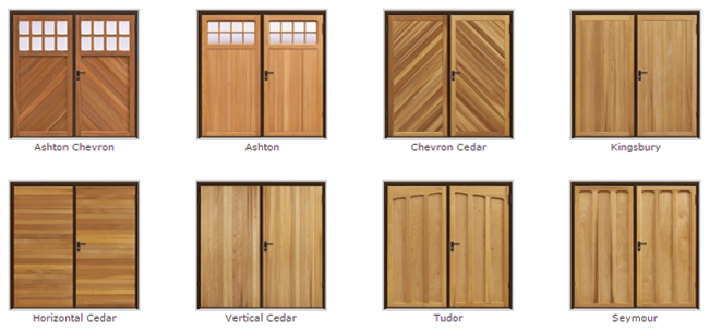 Side hinged timber garage doors from Best Garage Doors Barnsley, South Yorkshire